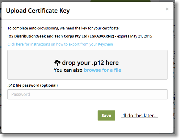 Exporting a Private Key as a .p12 file – Installr Help